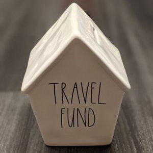 Rae Dunn TRAVEL FUND Piggy Bank